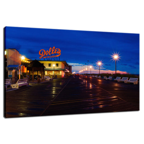 Early Morning at Dolles Night Photo Fine Art Canvas Wall Art Prints