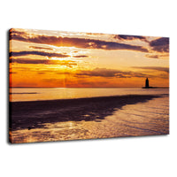 Cape Henlopen at Sunset Coastal Landscape Fine Art Canvas Wall Art Prints  - PIPAFINEART