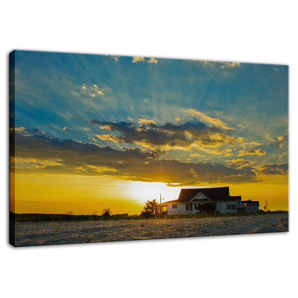 Sunset at Bowers Beach Coastal Landscape Photo Fine Art Canvas & Unframed Wall Art Prints - PIPAFINEART