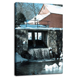 Rural Landscape Photograph Winter Mill - Fine Art Canvas - Home Decor Wall Art Prints Unframed