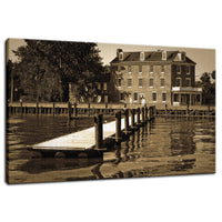Delaware City Dock Fine Art Canvas Wall Art Prints - Coastal / Beach / Shore / Seascape Landscape Scene