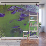 Removable Wall Mural - Wallpaper  Abstract Artwork - Fluid Art Pour 12 - PIPAFINEART