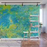 Mixed Art Texture - Fluid Art - Acrylic Dirty Paint Pour 15 - Adhesive Wallpaper - Removable Wallpaper - Wall Sticker - Full Size Wall Mural