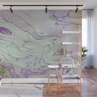 Removable Wall Mural - Wallpaper  Abstract Artwork - Fluid Art Pour 26  - PIPAFINEART