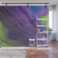 Mixed Art Texture - Fluid Art - Acrylic Dirty Paint Pour 29 - Adhesive Wallpaper - Removable Wallpaper - Wall Sticker - Full Size Wall Mural