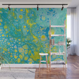 Removable Wall Mural - Wallpaper  Abstract Artwork - Fluid Art Pour 35  - PIPAFINEART