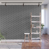 Isometric Weaved Cubes in Black and White - Adhesive Wallpaper - Removable Wallpaper - Wall Sticker - Full Size Wall Mural  - PIPAFINEART