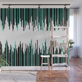 Frequency Line Illustration - Adhesive Wallpaper - Removable Wallpaper - Wall Sticker - Full Size Wall Mural