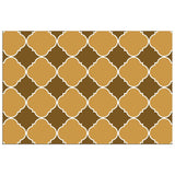 Brown and Beige Ornamental Pattern with White Border - Adhesive Wallpaper - Removable Wallpaper - Wall Sticker - Full Size Wall Mural