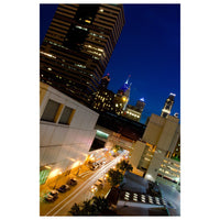 Night Photography Light Trails in Philly - Fine Art Canvas - Home Decor Wall Art Prints Unframed