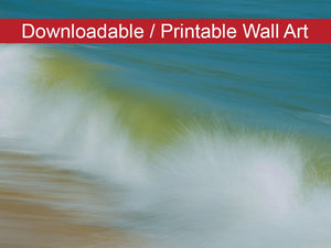 Digital Wall Art, Downloadable Prints, Coastal Nature Photograph Waves Beach Art - Instant Download Print - Printable Wall Artwork