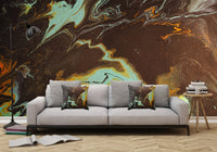 Mixed Art Texture - Fluid Art - Acrylic Dirty Paint Pour 3 - Adhesive Wallpaper - Removable Wallpaper - Wall Sticker - Full Size Wall Mural