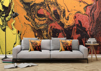 Removable Wall Mural - Wallpaper  Abstract Artwork - Fluid Art Pour 6 - PIPAFINEART