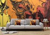 Mixed Art Texture - Fluid Art - Acrylic Dirty Paint Pour 6 - Adhesive Wallpaper - Removable Wallpaper - Wall Sticker - Full Size Wall Mural