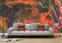 Removable Wall Mural - Wallpaper  Abstract Artwork - Fluid Art Pour 10  - PIPAFINEART