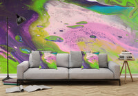 Removable Wall Mural - Wallpaper  Abstract Artwork - Fluid Art Pour 14  - PIPAFINEART