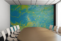 Removable Wall Mural - Wallpaper  Abstract Artwork - Fluid Art Pour 15  - PIPAFINEART