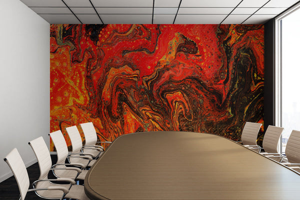 Removable Wall Mural - Wallpaper  Abstract Artwork - Fluid Art Pour 24 - PIPAFINEART