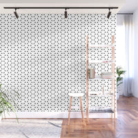 Black and White Basket Weave Circles Shapes- Adhesive Wallpaper - Removable Wallpaper - Wall Sticker - Full Size Wall Mural - PIPAFINEART