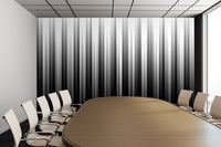 Black And White Soft Lines - Adhesive Wallpaper - Removable Wallpaper - Wall Sticker - Full Size Wall Mural  - PIPAFINEART