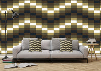 Block Wave Illustration - Adhesive Wallpaper - Removable Wallpaper - Wall Sticker - Full Size Wall Mural  - PIPAFINEART
