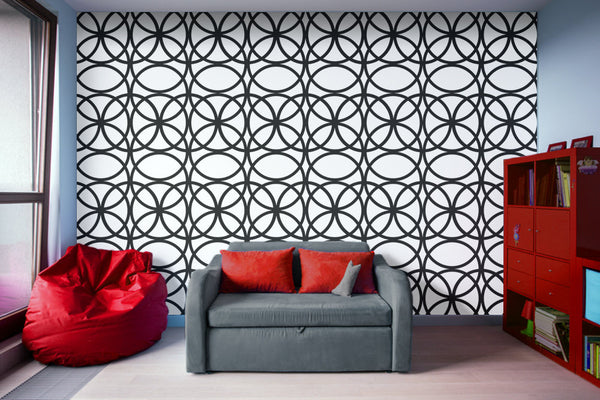 Circle Heaven 2 Illustration - Adhesive Wallpaper - Removable Wallpaper - Wall Sticker - Full Size Wall Mural  - PIPAFINEART