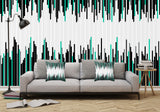 Frequency Line Illustration - Adhesive Wallpaper - Removable Wallpaper - Wall Sticker - Full Size Wall Mural  - PIPAFINEART