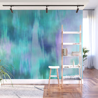 Teal Fusion- Adhesive Wallpaper - Removable Wallpaper - Wall Sticker - Full Size Wall Mural - PIPAFINEART