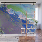 Mixed Art Texture - Fluid Art - Acrylic Dirty Paint Pour 9 - Adhesive Wallpaper - Removable Wallpaper - Wall Sticker - Full Size Wall Mural