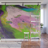 Mixed Art Texture - Fluid Art - Acrylic Dirty Paint Pour 14 - Adhesive Wallpaper - Removable Wallpaper - Wall Sticker - Full Size Wall Mural