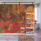 Mixed Art Texture - Fluid Art - Acrylic Dirty Paint Pour 24 - Adhesive Wallpaper - Removable Wallpaper - Wall Sticker - Full Size Wall Mural