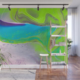 Mixed Art Texture - Fluid Art - Acrylic Dirty Paint Pour 31 - Adhesive Wallpaper - Removable Wallpaper - Wall Sticker - Full Size Wall Mural