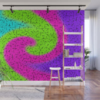 Tile Twirl - Peel and Stick Removable Wallpaper Full Size Wall Mural  - PIPAFINEART