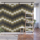 Block Wave Illustration - Adhesive Wallpaper - Removable Wallpaper - Wall Sticker - Full Size Wall Mural