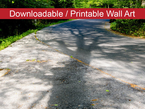 Summer Shadows Botanical Nature Photo DIY Wall Decor Instant Download Print - Printable