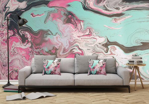 Mixed Art Texture - Fluid Art - Acrylic Dirty Paint Pour 1 - Adhesive Wallpaper - Removable Wallpaper - Wall Sticker - Full Size Wall Mural - PIPAFINEART