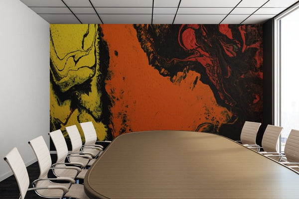 Removable Wall Mural - Wallpaper  Abstract Artwork - Fluid Art Pour 5 - PIPAFINEART