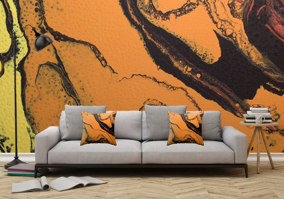 Mixed Art Texture - Fluid Art - Acrylic Dirty Paint Pour 7 - Adhesive Wallpaper - Removable Wallpaper - Wall Sticker - Full Size Wall Mural