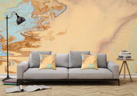 Removable Wall Mural - Wallpaper  Abstract Artwork - Fluid Art Pour 11  - PIPAFINEART