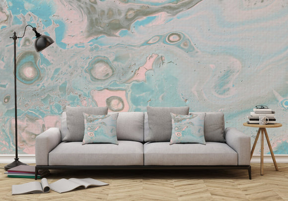 Mixed Art Texture - Fluid Art - Acrylic Dirty Paint Pour 18 - Adhesive Wallpaper - Removable Wallpaper - Wall Sticker - Full Size Wall Mural