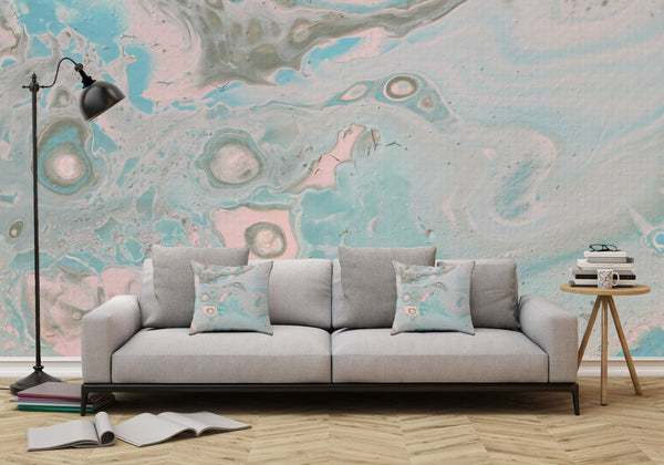 Removable Wall Mural - Wallpaper  Abstract Artwork - Fluid Art Pour 18 - PIPAFINEART