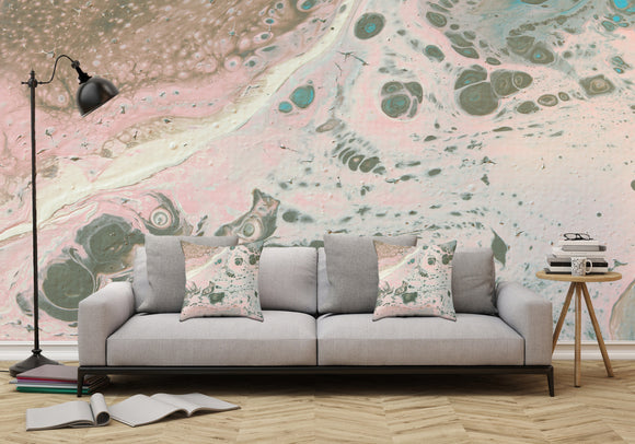 Mixed Art Texture - Fluid Art - Acrylic Dirty Paint Pour 19 - Adhesive Wallpaper - Removable Wallpaper - Wall Sticker - Full Size Wall Mural