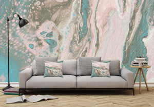 Mixed Art Texture - Fluid Art - Acrylic Dirty Paint Pour 20 - Adhesive Wallpaper - Removable Wallpaper - Wall Sticker - Full Size Wall Mural