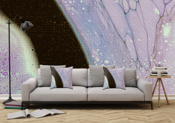 Mixed Art Texture - Fluid Art - Acrylic Dirty Paint Pour 25 - Adhesive Wallpaper - Removable Wallpaper - Wall Sticker - Full Size Wall Mural