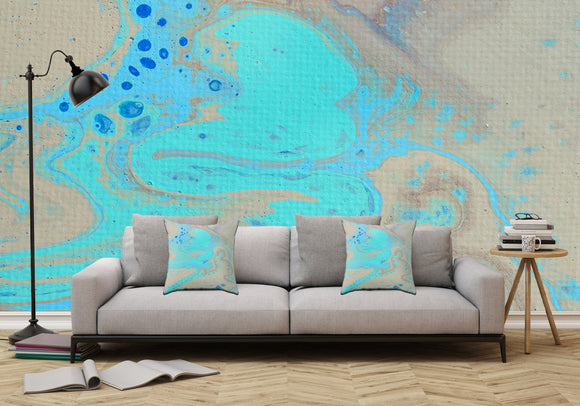 Mixed Art Texture - Fluid Art - Acrylic Dirty Paint Pour 28 - Adhesive Wallpaper - Removable Wallpaper - Wall Sticker - Full Size Wall Mural