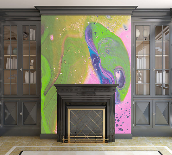 Removable Wall Mural - Wallpaper  Abstract Artwork - Fluid Art Pour 30  - PIPAFINEART