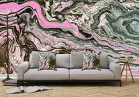 Removable Wall Mural - Wallpaper  Abstract Artwork - Fluid Art Pour 34  - PIPAFINEART