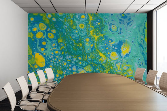 Mixed Art Texture - Fluid Art - Acrylic Dirty Paint Pour 35 - Adhesive Wallpaper - Removable Wallpaper - Wall Sticker - Full Size Wall Mural