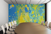 Removable Wall Mural - Wallpaper  Abstract Artwork - Fluid Art Pour 36  - PIPAFINEART