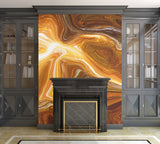 Earth Tones Digital Fluid Artwork - Adhesive Wallpaper - Removable Wallpaper - Wall Sticker - Full Size Wall Mural